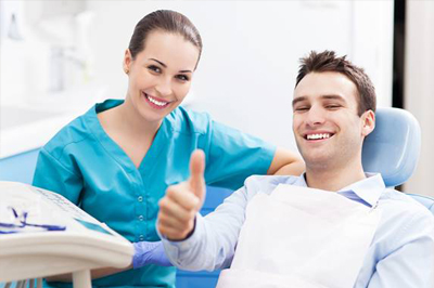Man in dental chair