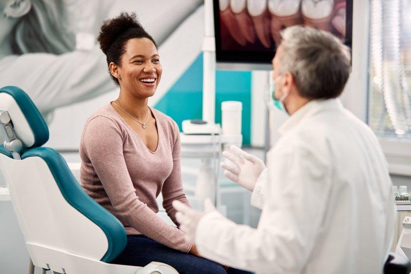 patient sharing health factors during dental checkup
